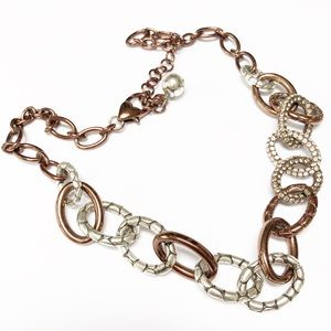 Jewelry - ⭐️ Copper & Silver Chunky Chain Necklace ⭐️